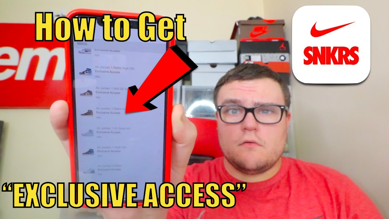 How to Get EXCLUSIVE ACCESS on Nike