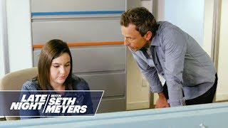 Seth Meyers Chews Out the Late Night Staff