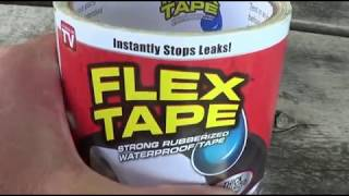 Flex Tape   Test on Swimming Pool Leak