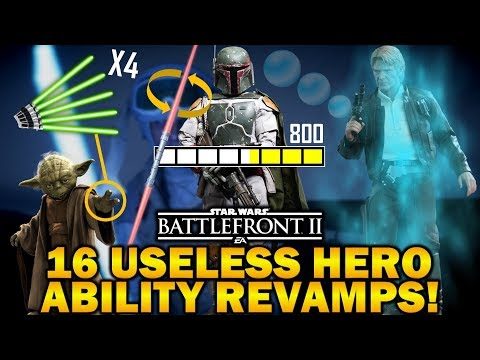 16 USELESS HERO ABILITY REVAMPS! Star Wars Battlefront 2 thumbnail