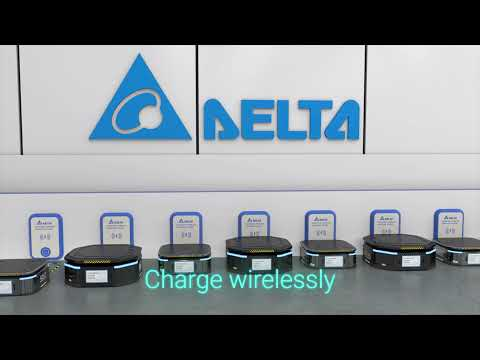 Delta MOOVair 1 kW Wireless Charging System for AGVs, AMRs and Industrial e-Vehicles
