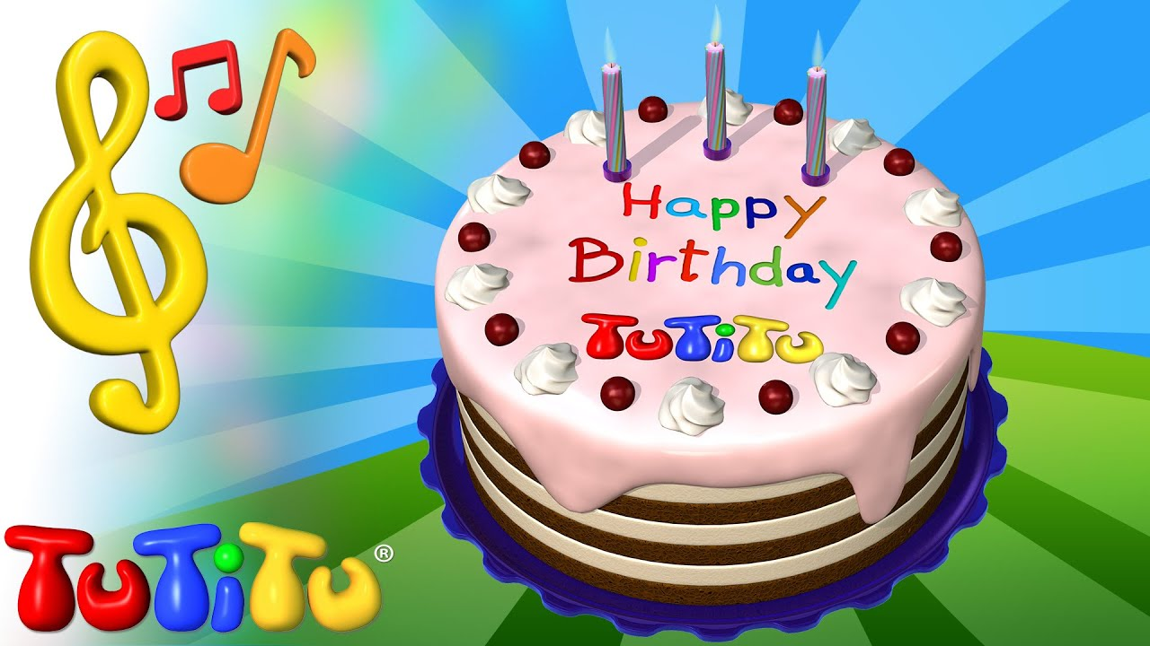 Tutitu Toys And Songs For Children Birthday Cake Youtube