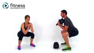 Push Yourself Harder - Total Body Training for a Lean Strong Body - Dumbbell or Kettlebell Workout
