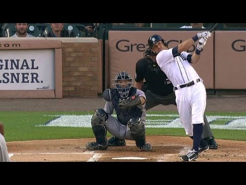 MIN@DET: Kinsler ties Tigers leadoff home run record