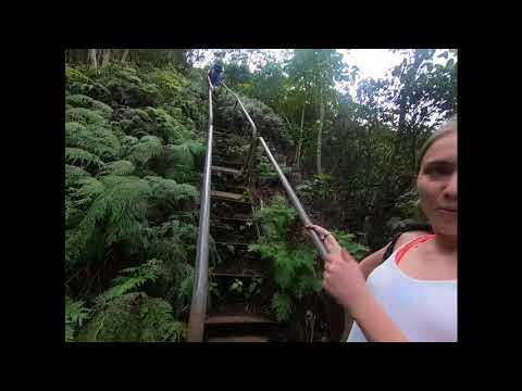 Hawaii - Haiku Stairs Climb - Unedited with Guard Encounter