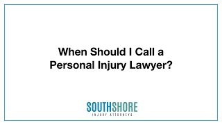 When Should I Hire A Personal Injury Lawyer