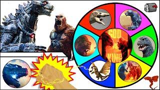 Godzilla vs Kong SPINNING WHEEL SLIME GAME w/ MechaGodzilla + New Movie Figures screenshot 2
