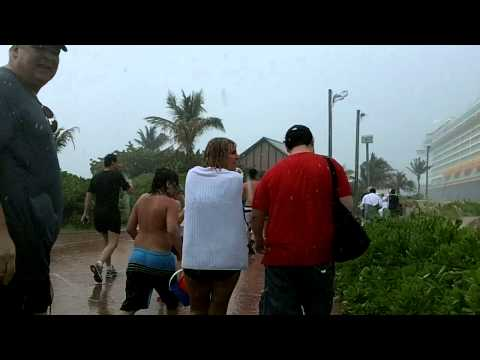 Tropical Storm Emily attacks Castaway Cay and the Disney Dream