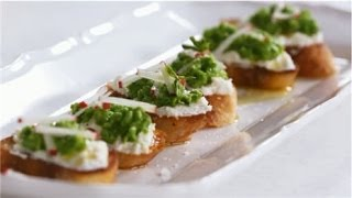 Bruschetta Recipe With Sweet Pea And Ricotta Toppings