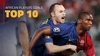 Top 10 goals by Barça's African players