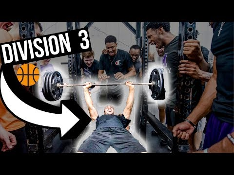 INSIDE A D3 COLLEGE BASKETBALL WEIGHT LIFTING WORKOUT!