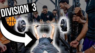 INSIDE A D3 COLLEGE BASKETBALL WEIGHT LIFTING WORKOUT !