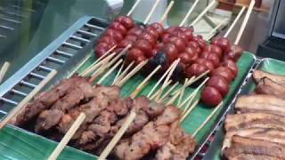 CEBU,  PHILIPPINES. SURVIVAL, HOW TO MAKE BAMBOO BBQ STICKS. FUNNY, LIFESTYLES