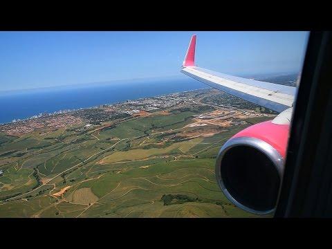 Turbulent Approach!!! FlySafair Boeing 737-800 Landing Durban / South Africa