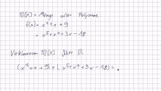 Mathematik für Informatik Studenten 68 - Vektoren : Polynomringe