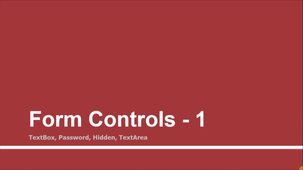 Form Controls - 1 | Part - 09 | Learn Razor using ASP Net MVC | Tutorials  Team