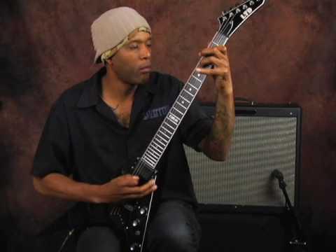 Electric guitar demo ESP Flying V metal thrash hard rock