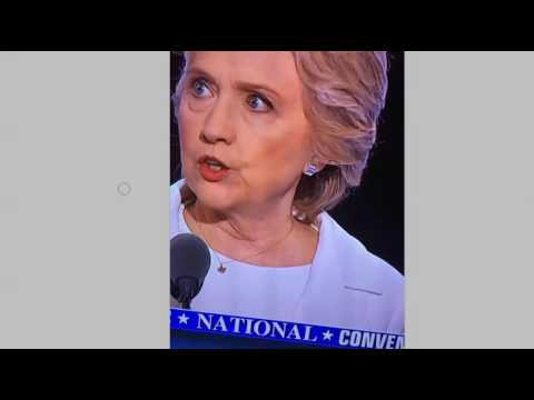 Hillary Clinton Baphomet Satanic Goat's Head Necklace at DNC Acceptance Speech?