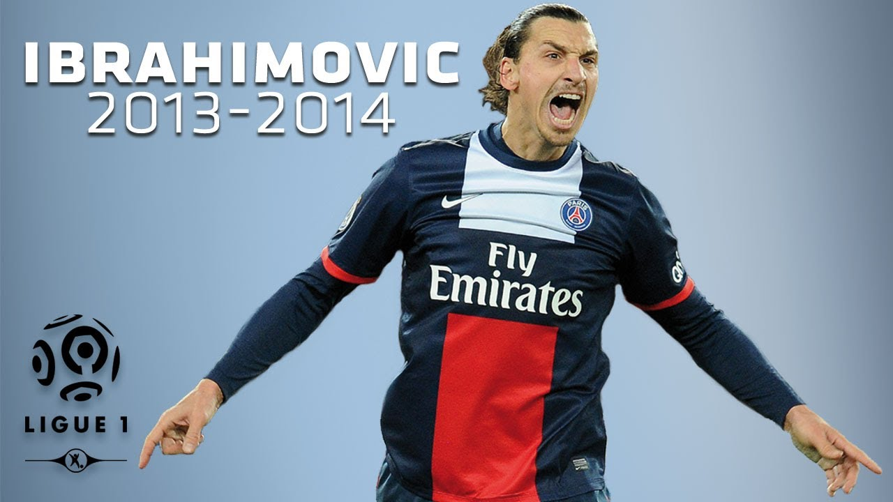 sneakers for cheap e7116 5212a Zlatan Ibrahimovic - All Goals in 2013-2014 (1st half) - PSG