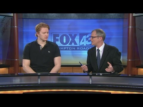 Admirals Goalie Frederik Andersen in the Sportswrap Studio