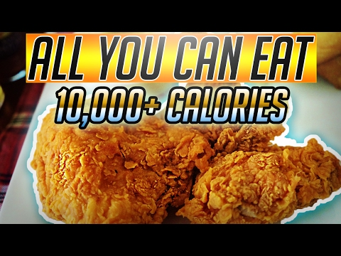 10,000+ Calorie Cheat Meal | All you can eat Southern style Buffet | Food Challenge