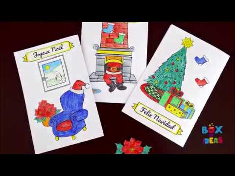 DIY Christmas card to make with kids! | Box of ideas