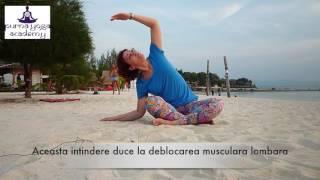 Yoga pentru eliminarea durerilor din zona cervicala si lombara