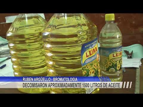 Fueron decomisados 1500 lt. de aceite