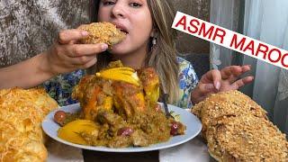 ASMR Moroccan Pastry (الدجاج محمر)