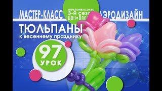 Искусство Аэродизайна. Урок №97. Букет тюльпанов из воздушных шаров