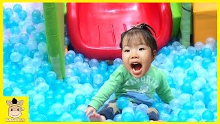 Indoor Playground Fun for Kids and Family Play Slide Rainbow Colors Ball Learn | MariAndKids Toys