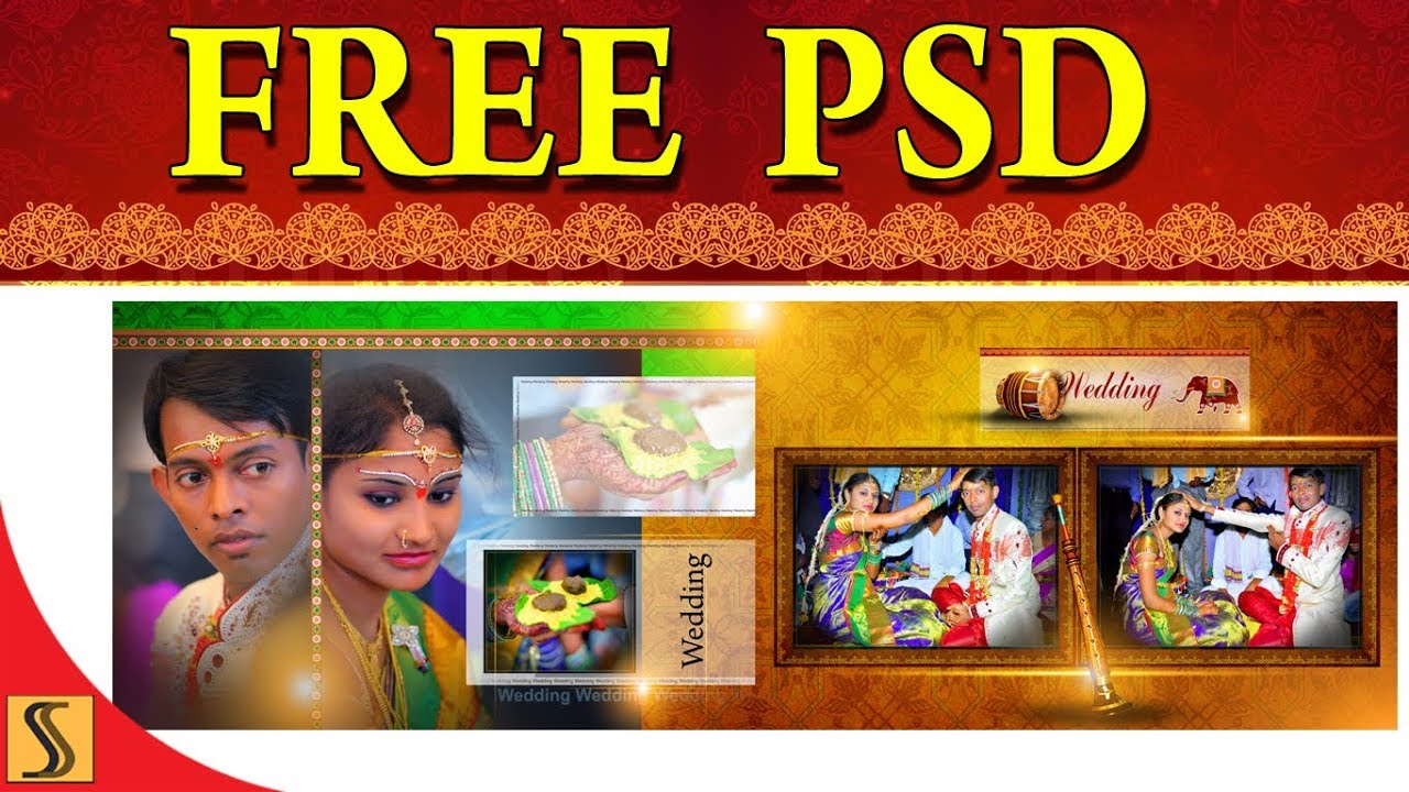 2018 Free Psd Indian Wedding 300 Dpi Album 12 X 36 Template Ss Free