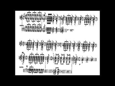 Manuel de Falla - Danza del Molinero for Guitar (1919) [Score-Video]