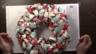 Curled Paper Wreath Tutorial