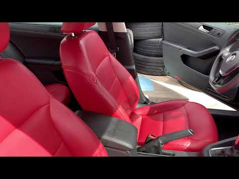 WHOA!! RED Leather In Volkswagen Jetta