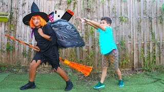 witch and children pretend play funny videos for kids,les boys tv