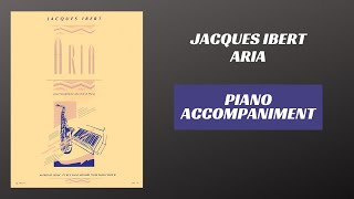 Jacques Ibert – Aria for Alto Saxophone (Piano Accompaniment)