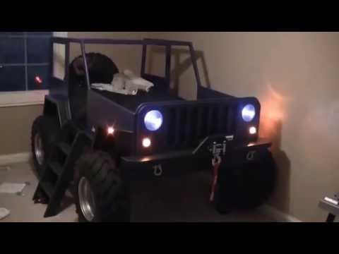 Kids Jeep Bed - YouTube