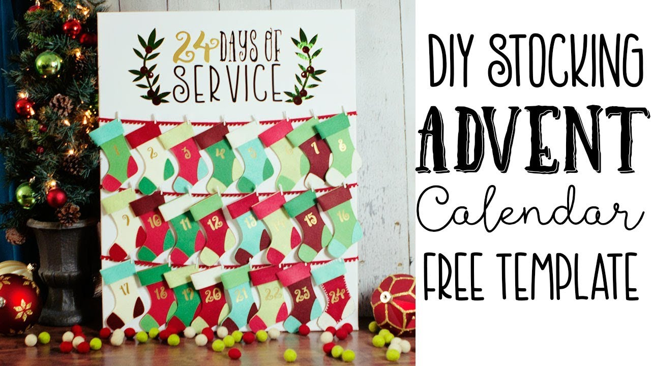 How To Make A Christmas Advent Calendar Free Template Youtube