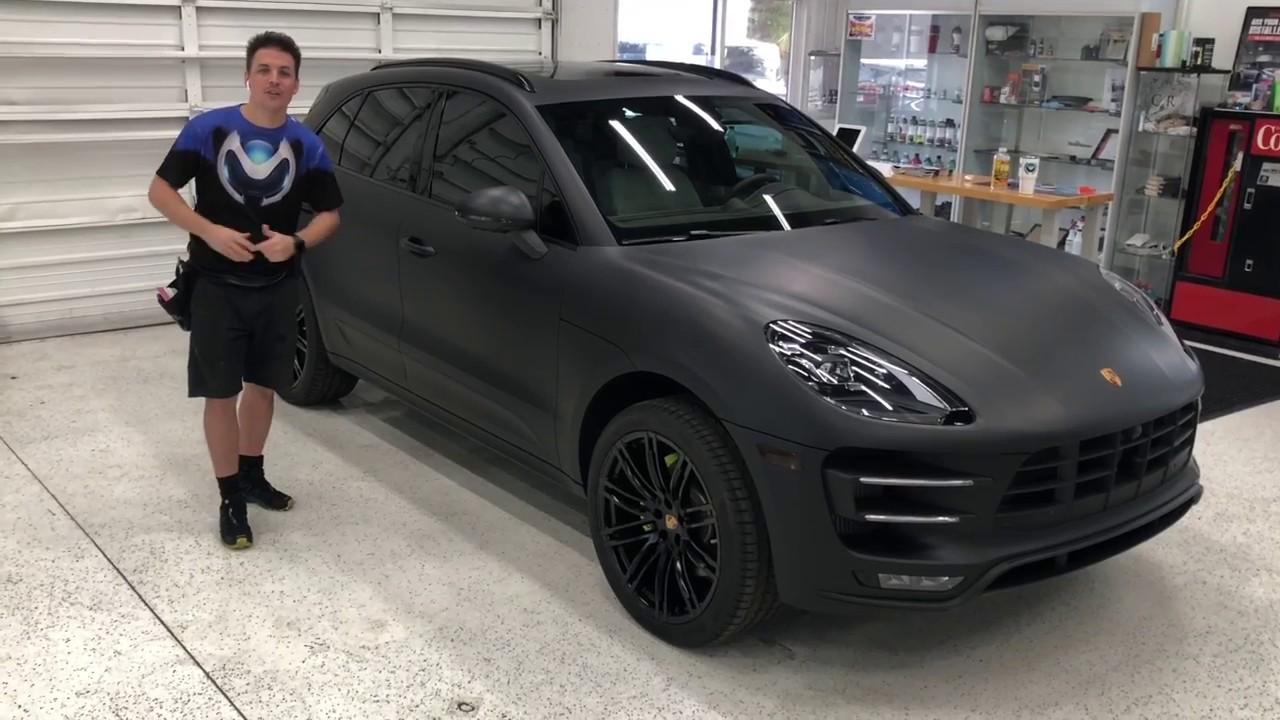 Porsche Macan wrapped matte black by MORPHEUS DESIGN