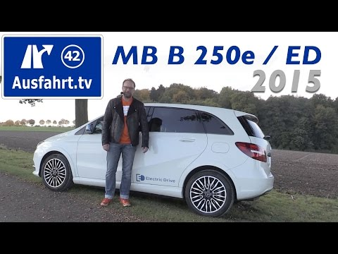 Mercedes-Benz B 250 e / B200 Electric Drive - Fahrbericht der Probefahrt, Test , Review (German)