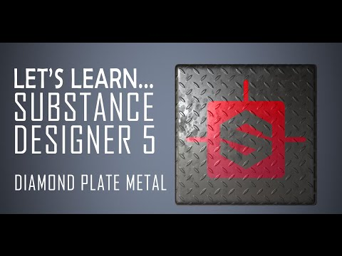 Let's Learn Substance Designer 5 - The Basics/Diamond Plate Metal