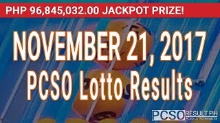 PCSO Lotto Results Today November 21, 2017 (6/58, 6/49, 6/42, 6D, Swertres & EZ2)