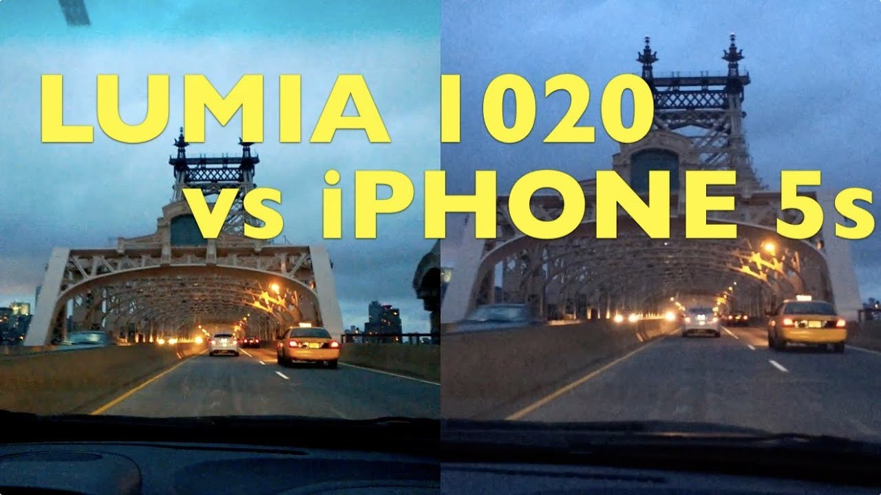 iPhone 5s vs Nokia Lumia 1020 Night Video