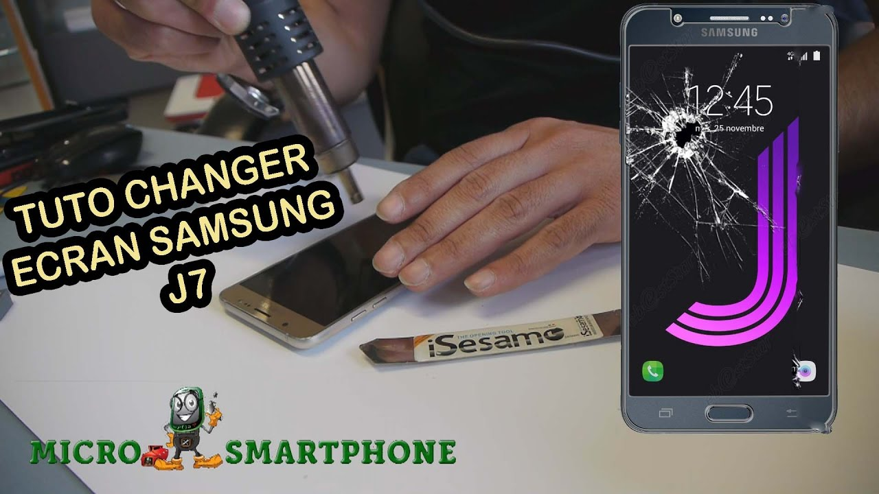 Tuto changer cran samsung j7 2016 youtube for Photo ecran samsung j7