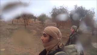 ISIS Jihadi with GoPro Gets Shot!! ISIS vs YPG in Northern Raqqa,Syria !