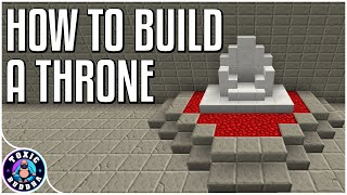 Minecraft: How To Build A Throne
