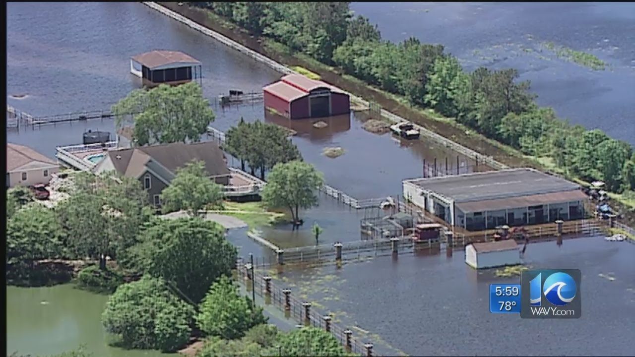 Tidal Flooding Impacts Roads In Va Beach