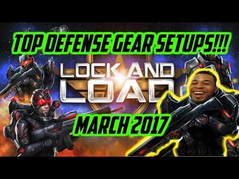 Mobile Strike - Top Defensive Gear Setups!!! (March 2017)