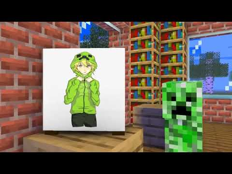 Monster School : SUPER DRAWING CHALLENGE - Minecraft Animation
